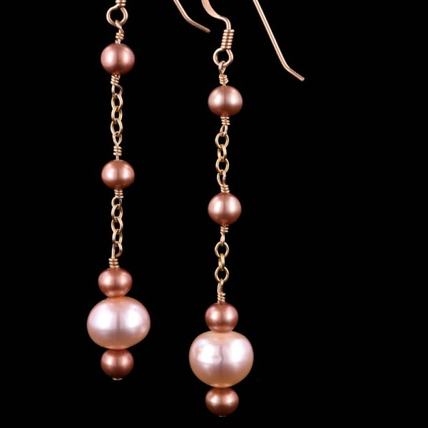 1202-Pink-bronze-pearl-dangle-earring-land-and-sea-jewelry-1