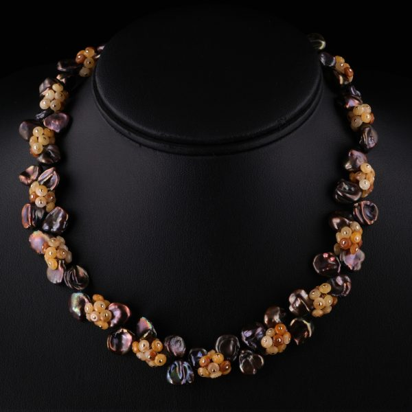 2012-Chocolate-bronze-keshi-pearl-golden-jade-gemstone-necklace-land-and-sea-jewelry
