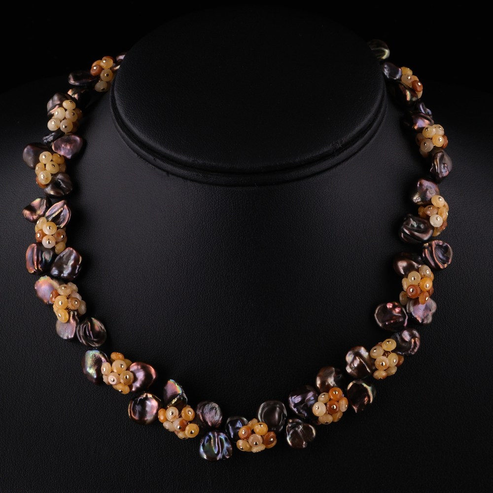 2012-Chocolate-bronze-keshi-pearl-golden-jade-gemstone-necklace-land-and-sea-jewelry