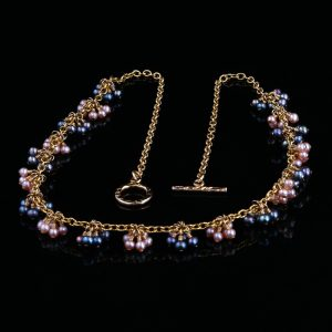 2101-B-Baby-blue-pink-champagne-pearl-gold-chain-necklace-land-and-sea-jewelry