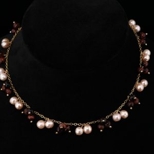 2103-Tiger-Eye-pink-champagne-pearl-dangles-gold-chain-necklace-land-and-sea-jewelry