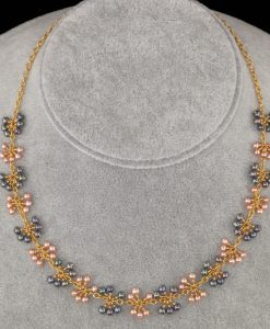 2101-A-Baby-blue-pink-champagne-pearl-gold-chain-necklace-land-and-sea-jewelry