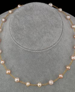 2104-A-Pink-champagne-peach-creamrose-pearl-gold-chain-necklace-land-and-sea-jewelry