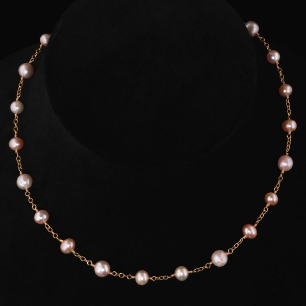 2104-Pink-champagne-peach-creamrose-pearl-gold-chain-necklace-land-and-sea-jewelry